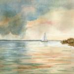 Vihar előtti csend - Balatoni akvarell