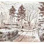 I. Világháborús emlékmű - Vecsési rézkarc