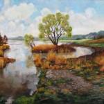 Víztározó tavasszal - Tájkép